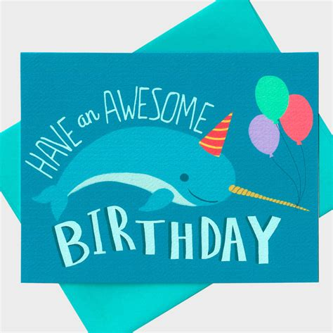 Awesome Birthday Card Funny Birthday Card Have An Awesome Birthday By Turtlessoup