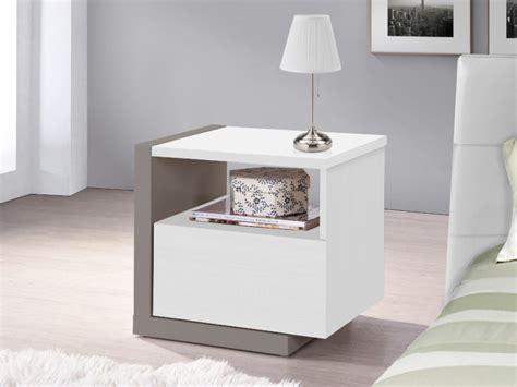lade comodino design nachtkastje napoli 1 lade grijs of wit