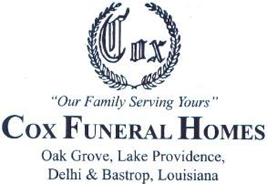 obituaries cox funeral home