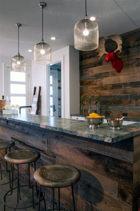 basement bar ideas rustic home bar rustic  hamptons