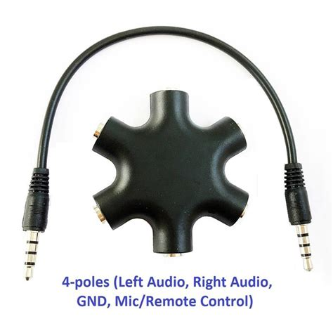 Speaker Split 2 Way Audio Link 6 5 Inch kokkia 4 pole left audio right audio gnd mic remote 5 way 6 port audio splitter 3