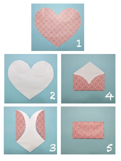 how to make an envelope with paper forty weeks crafts diy heart envelopes