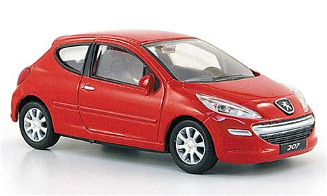 peugeot 207 red peugeot 207 red 3 turig mondo motors diecast model car 1