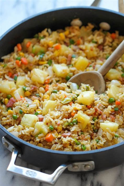 pineapple fried rice recipe dishmaps
