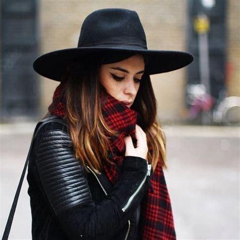 s triangle dent crown hat luxury wide brim black