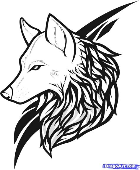 kids drawing tattoo draw wolf drawing and coloring for tattoos