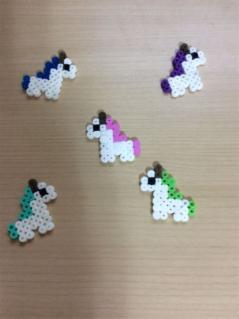 easy perler bead ideas unicorns made by perler easy peler