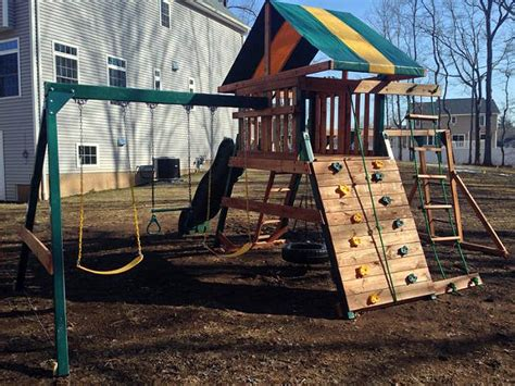 backyard play systems playset assembler and swing set installer in southington ct swing set installation