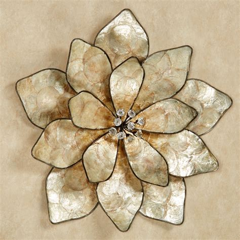 wall decor eloquence bloom capiz shell flower wall