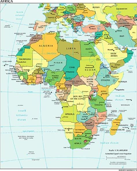 a clear africa map alphabetical list of all countries with capitals