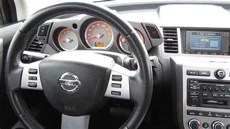 nissan murano interior 2006 nissan murano red stock v3110a interior youtube