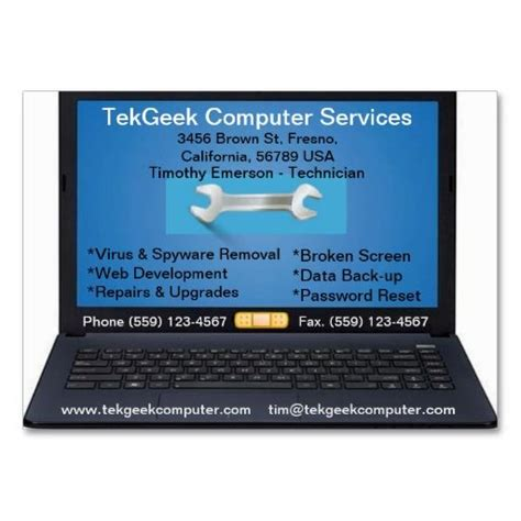 computer service business card template the world s catalog of ideas