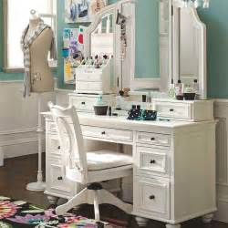 Makeup Vanity And Storage Antique Vanity Table Furniture Units Using White Paint