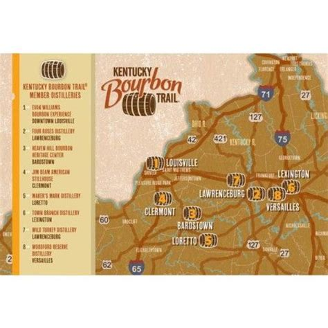 map kentucky bourbon trail pin by phil knepfle on bourbon