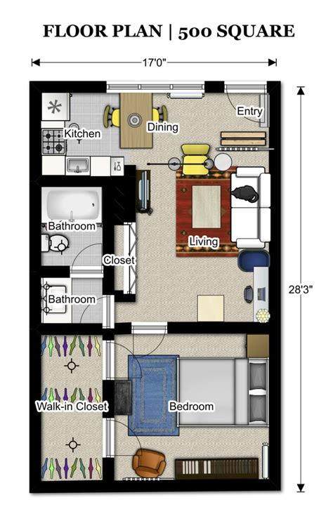 how much to build a 500 sq ft house 25 best ideas about apartment floor plans on pinterest