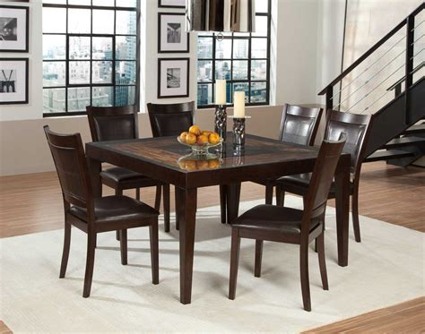Acacia Wood Dining Room Furniture Homelegance Vincent Square Dining Set Mango And Acacia Wood D3299 52