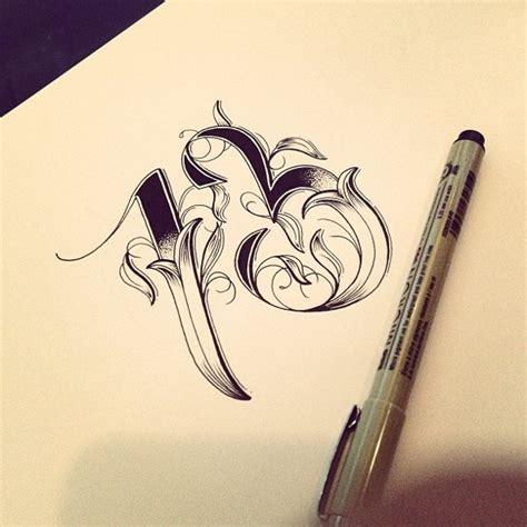 the number 13 tattoo designs type vol 3 on typography served served awesome