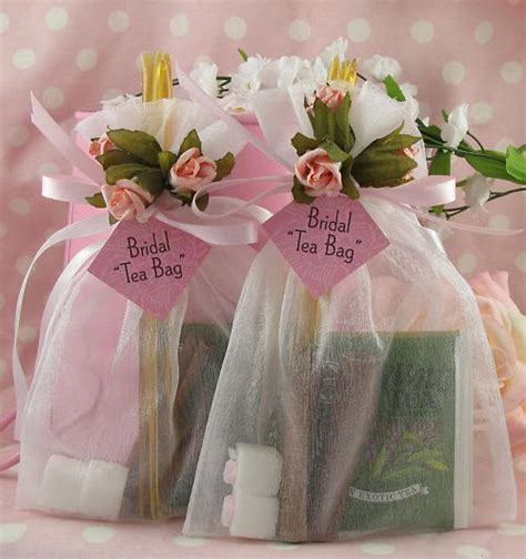 Handmade Bridal Shower Favors - bridal tea bag handmade organza shower wedding favors ebay