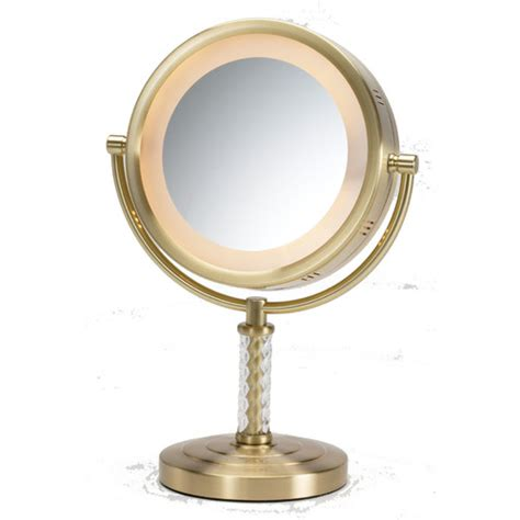 Vanity With Lighted Mirror jerdon dual sided halo lighted vanity mirror reviews wayfair