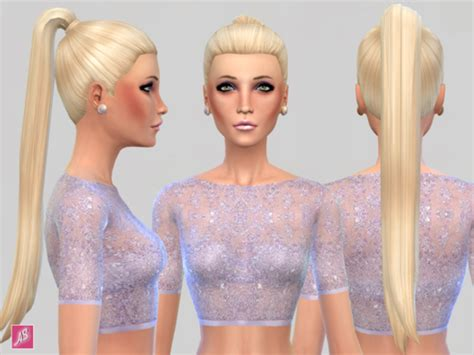 custom contant hair in the sims 4 longer ponytail sims 4 custom content