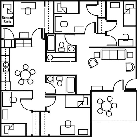 Panther Hall Floor Plan mansfield floor plans living on campus