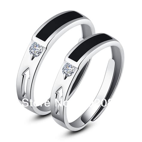 fashion his hers rings couples promise rings ajustable
