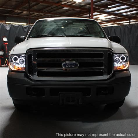 250 Led Headlights by 2005 07 Ford F250 350 450 Smoke Led Halo Projector Headlights