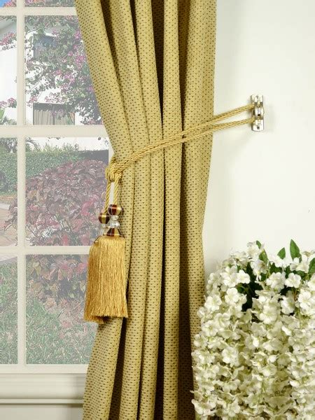 Curtains With Tassels How To Install Curtain Tassel Tiebacks Curtain Menzilperde Net