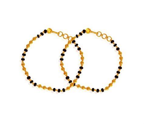 black bangles for baby black bracelet 22k ajkb61151 us 515 22k gold