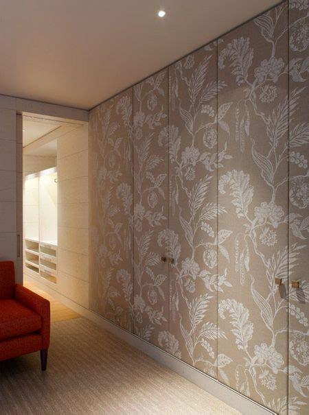 dress  closet doors  fabric wallpaper  panelling