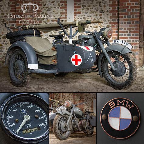 german bmw  motorcycle  side car ambulance