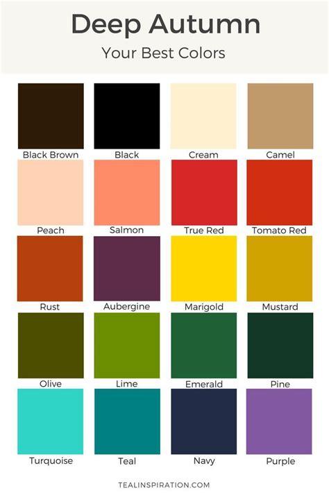 deep autumn color palette how to find your best colors deep autumn autumn and