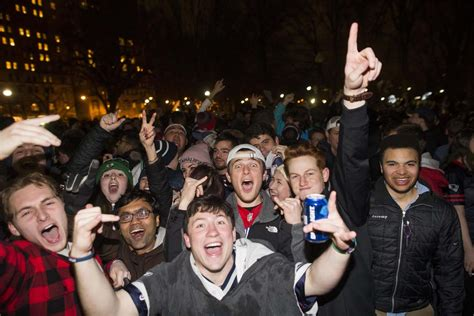 new england patriots fans in boston new england patriots fans celebrate super bowl