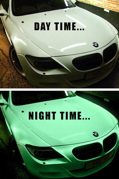 bmw glowing emblem vvivid 3mil 1ft x 5ft green glow in the vinyl vehicle