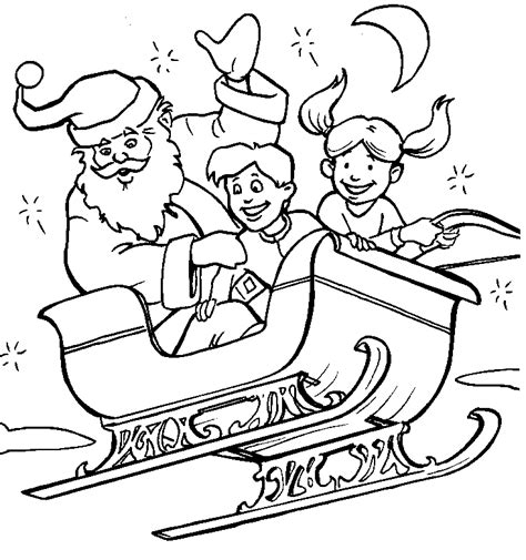 Christmas Sled Coloring Pages Coloringpages1001 Com Sled Coloring Pages