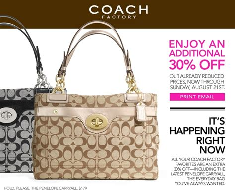 couch outlet coach outlet coupon 30 off through 8 21 my frugal