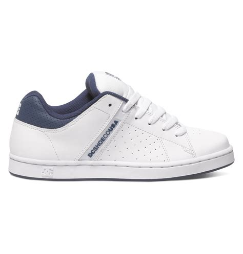 dc mens wage shoes white navy 9 5d s wage shoes 888327437477 dc shoes
