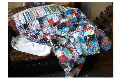 Beginner Rag Quilt by Easy Quilt Patterns For Beginning Quilters