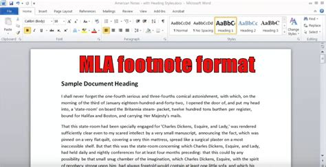 footnote format for mla mla footnote format