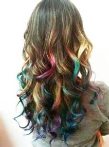 pretty colors to dye your hair 2014 ombre highlights trend 30 rainbow colored