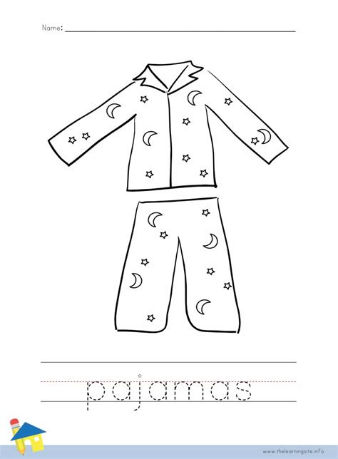 pajama template pajamas coloring pages