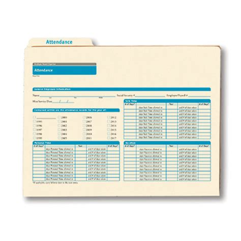 Employee Records Employee Attendance Record Organizer An All In One Solution
