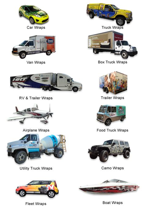 Car Wrap Types by The Gallery For Gt Types Of Vehicles