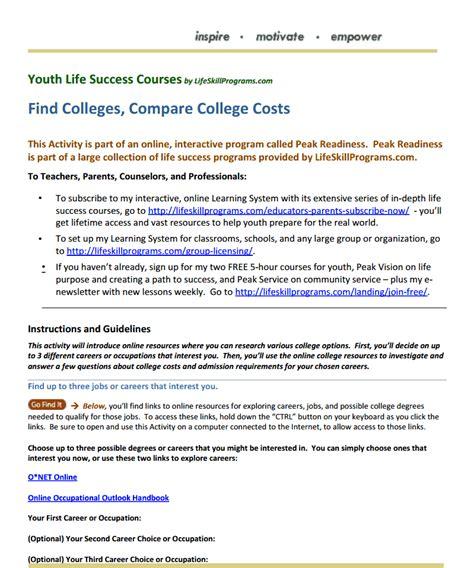 college planning college planning find colleges compare college costs