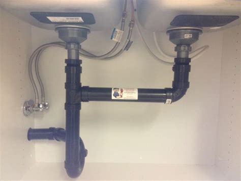 Double Undermount Sink Drain Installation With Dishwasher Kitchen Sink Drain Pipes