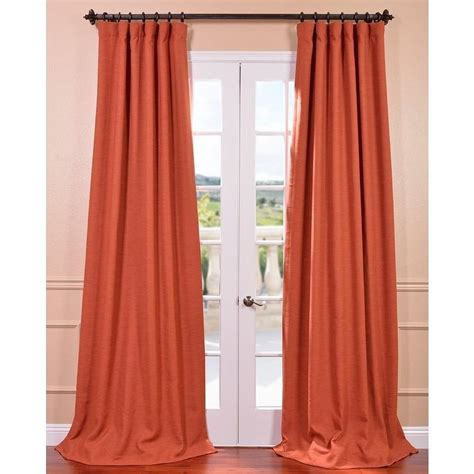 Persimmon Bellino Blackout Curtain Overstock Com Overstock Kitchen Curtains