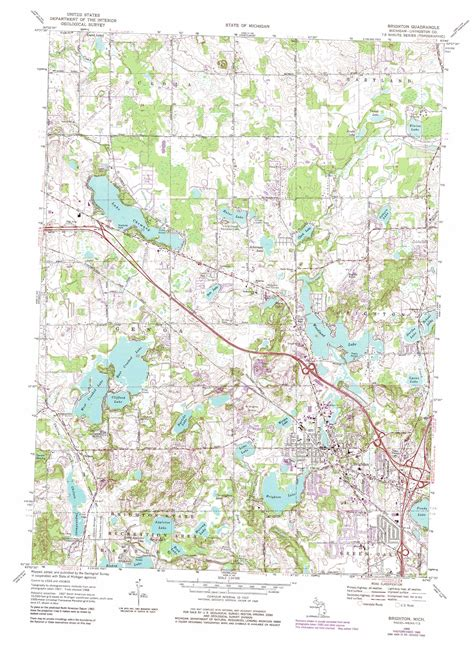 printable maps brighton brighton topographic map mi usgs topo quad 42083e7