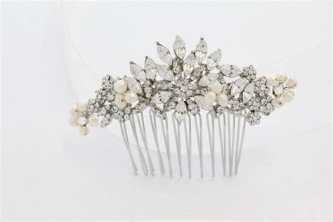bridal comb vintage bridal accessories wedding