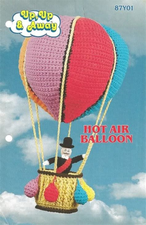 pattern air balloon crochet hot air balloon crochet pinterest