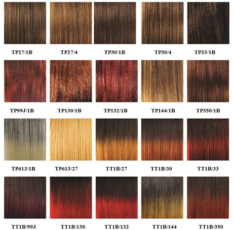 hair color chart for braids braiding hair colors
